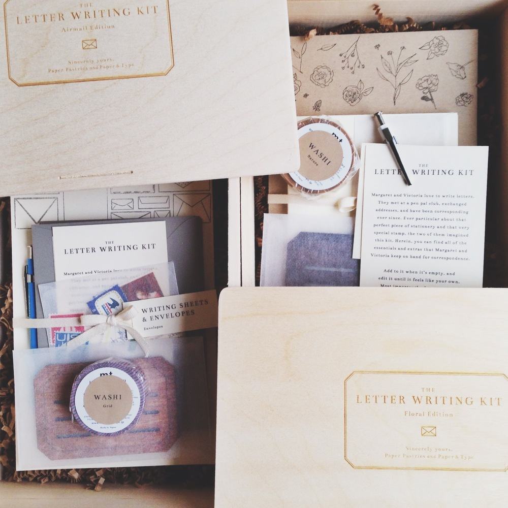 Letter Writing Kit by Paper & Type and Paper Pastries (I use the floral edition).