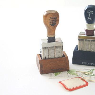 Oh, Hello Friend -  Wood Roller Date Stamp, $14.00 .