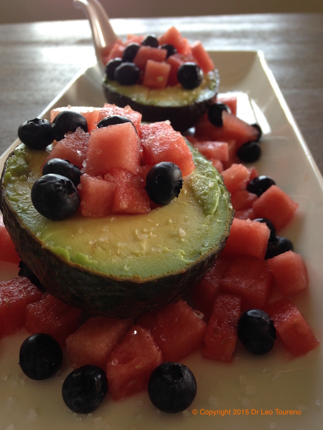 Avocado Watermelon Blueberry Power Snack
