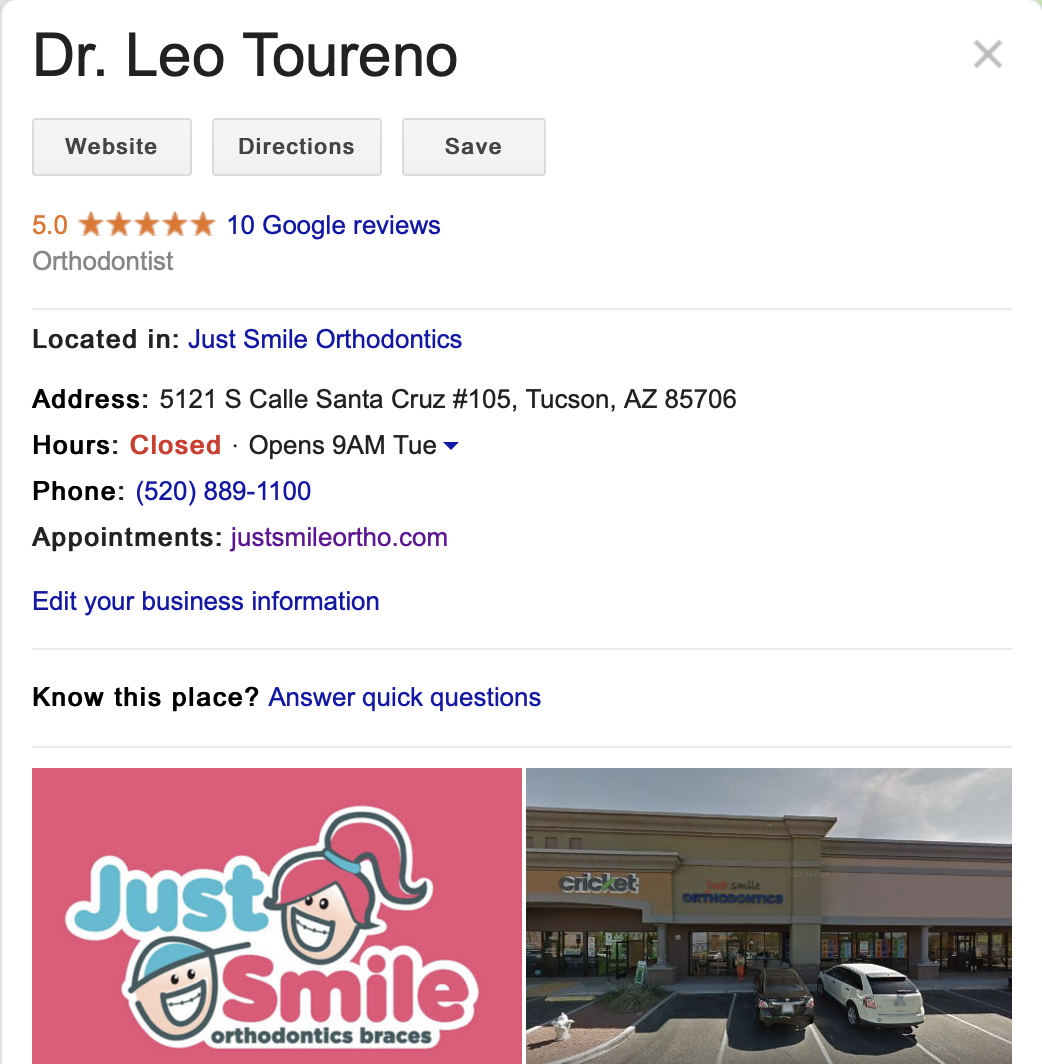 Dr. Leo Toureno Orthodontist Review in Tucson