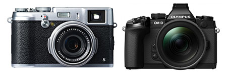Fujifilm x100s and Olympus OM-D
