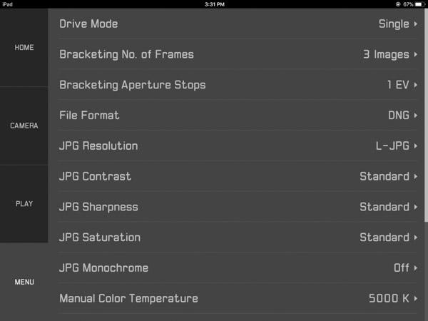 customizing the camera and transfer settings