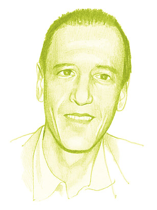 Christian Marclay     drawing by Luke Wilson for  Time