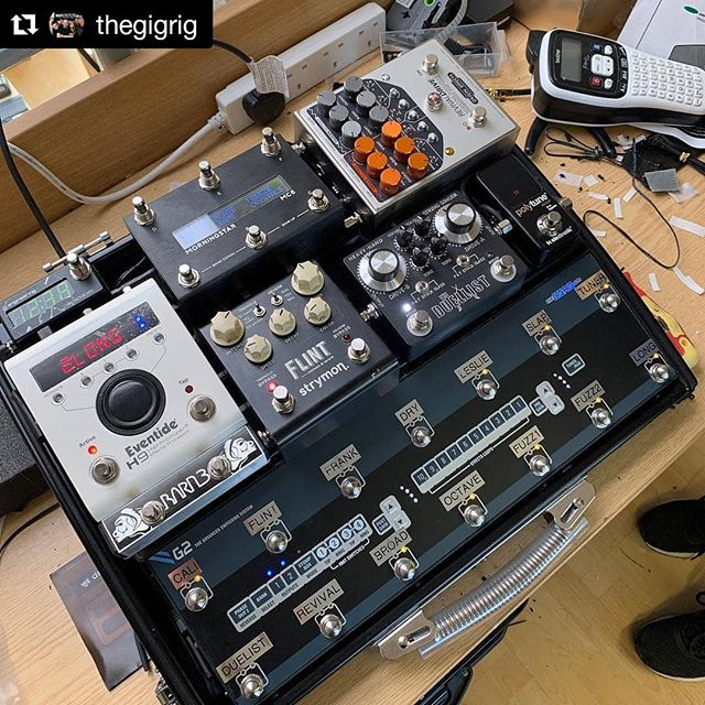Excited to be a part of Ariel Posen's latest setup, recently completed by @thegigrig! ・・・ #Repost @thegigrig ・・・ @arielposen stopped by for a quick pedalboard tune up. Turned out fantastic