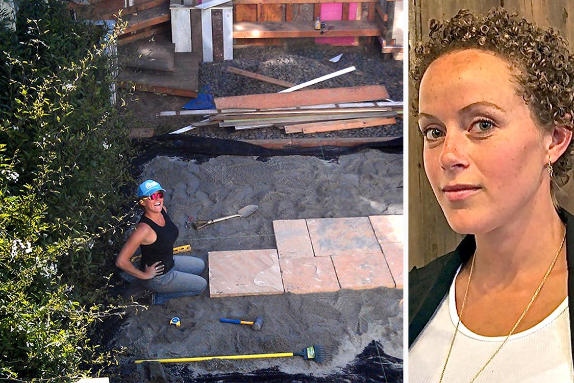 Owner, landscaper, designer - Julie Duvivier.