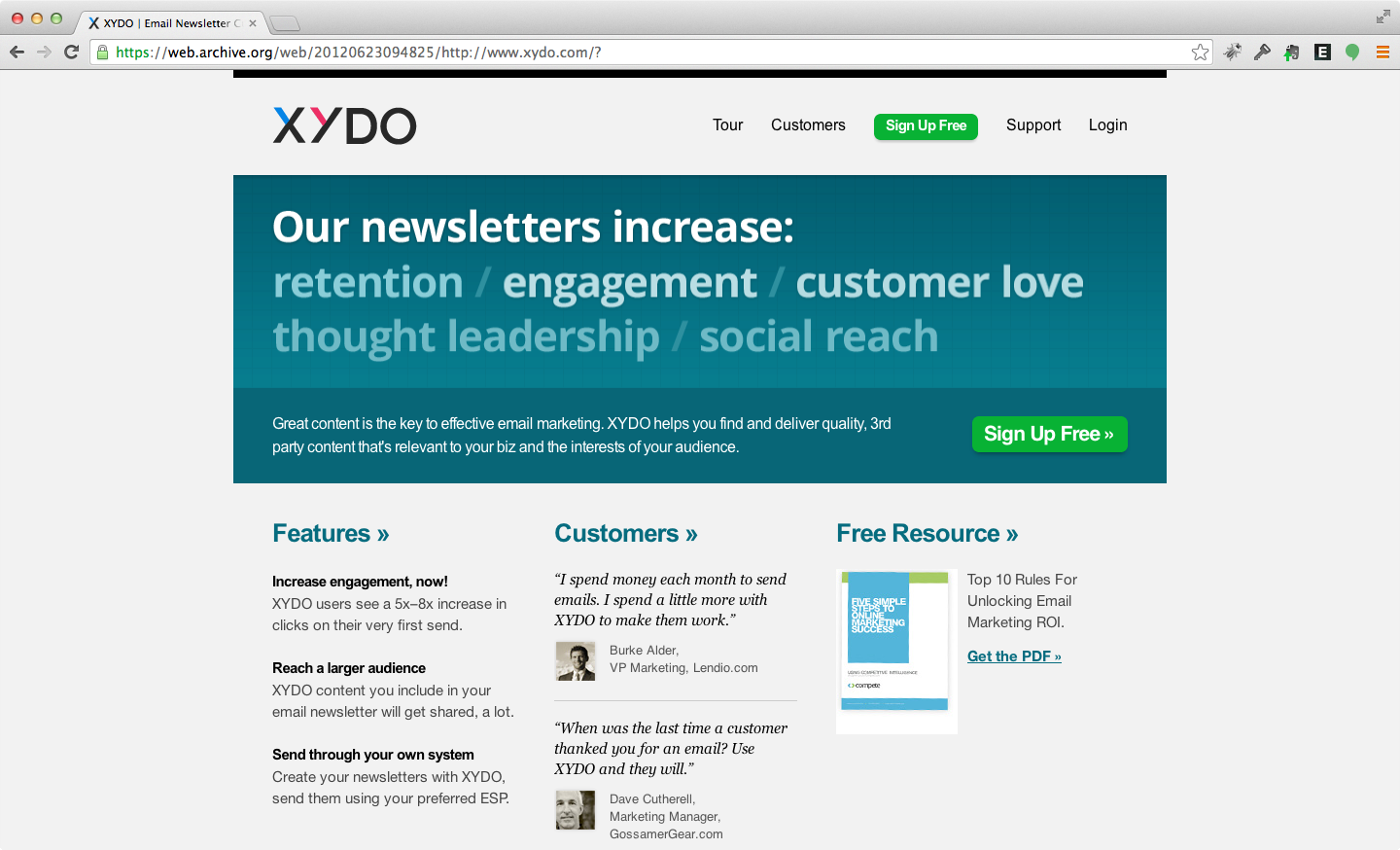 XYDO - Simple newsletter creation service for small businesses.