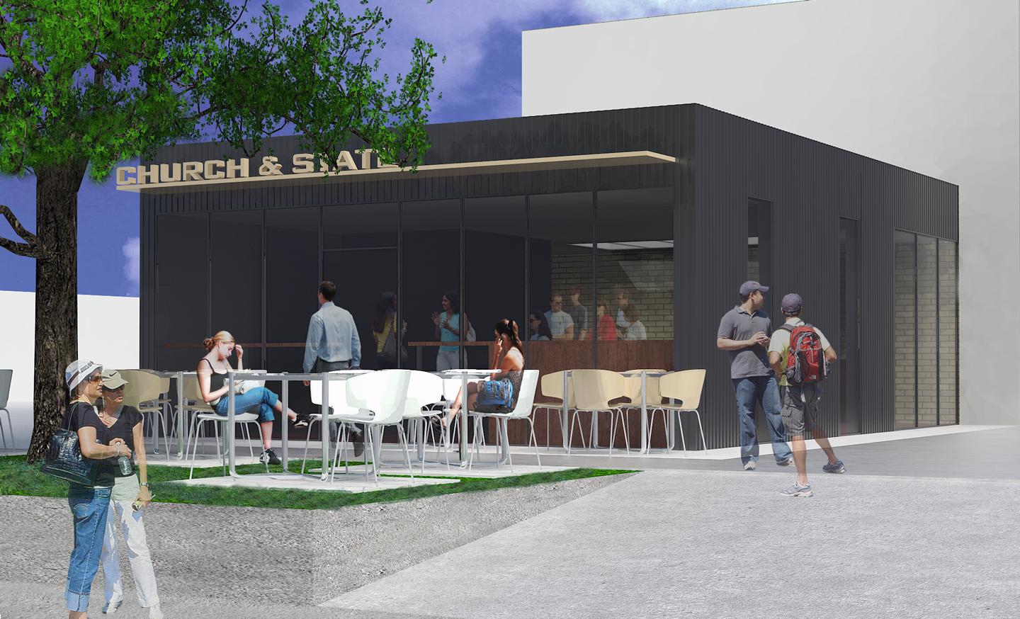 Church & State - Concept for a coffee shop in Salt Lake City.