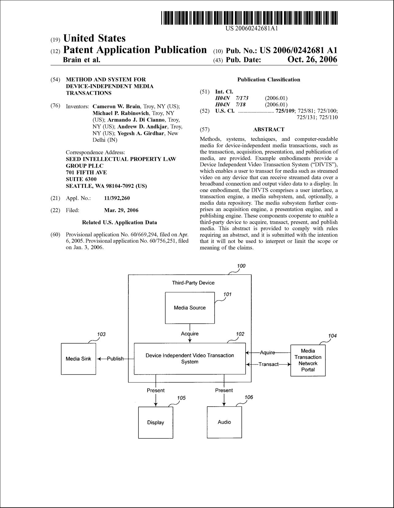 Method and system for device-independent media transactions