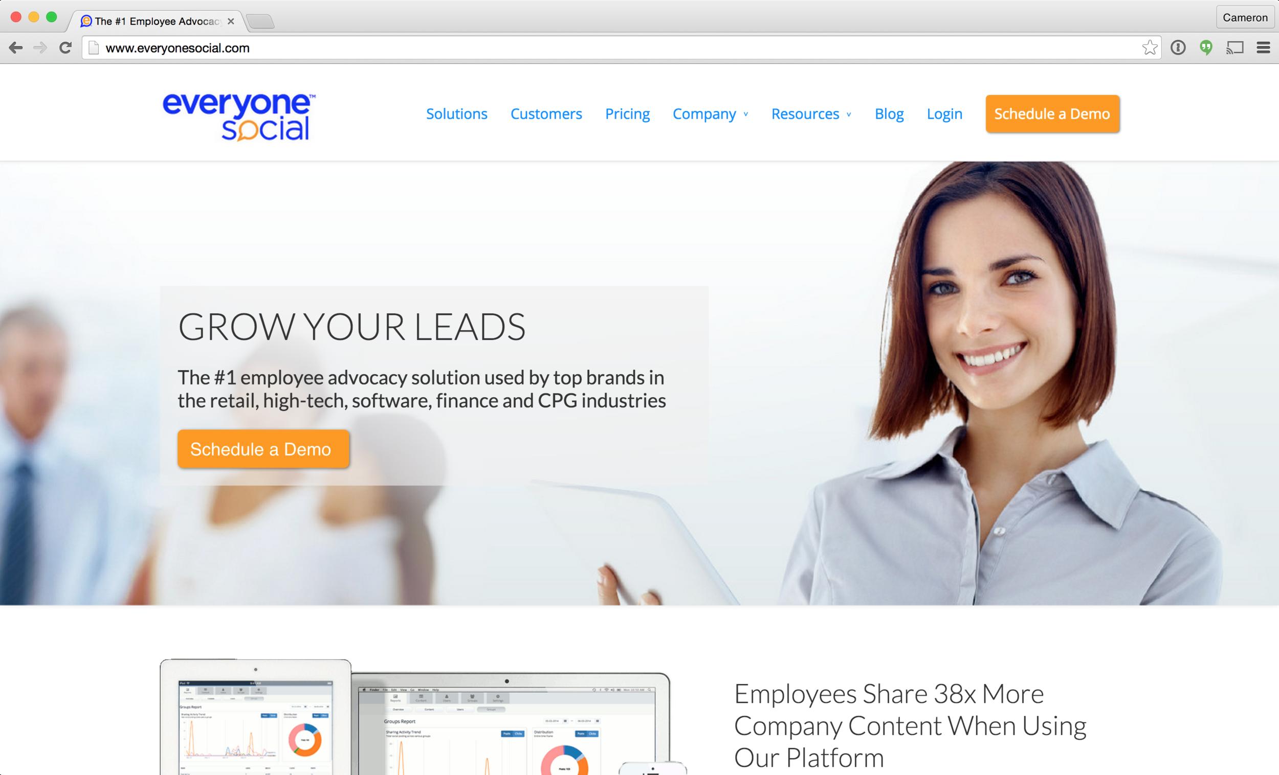 EveryoneSocial - Social publishing tools for employees.