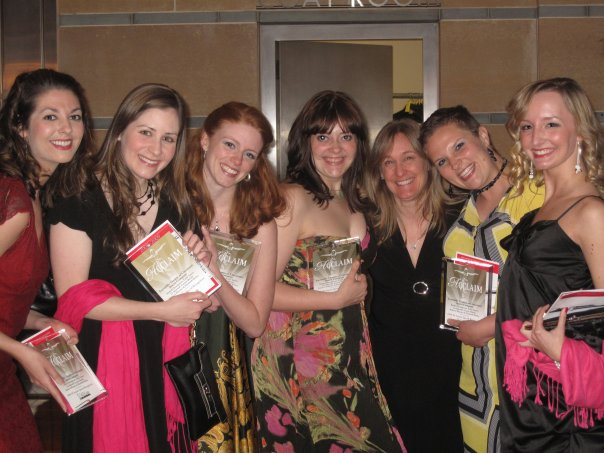 2009 Cincinnati Acclaim Awards  L to R: Emily Eaton, Rebecca Whatley, Lauren Shiveley, Rachel Christianson, D. Lynn Meyers, Liz Maxwell, Elizabeth Worley