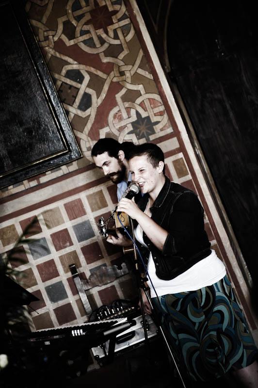 Singing with Charles Darius, Poppi, Italy