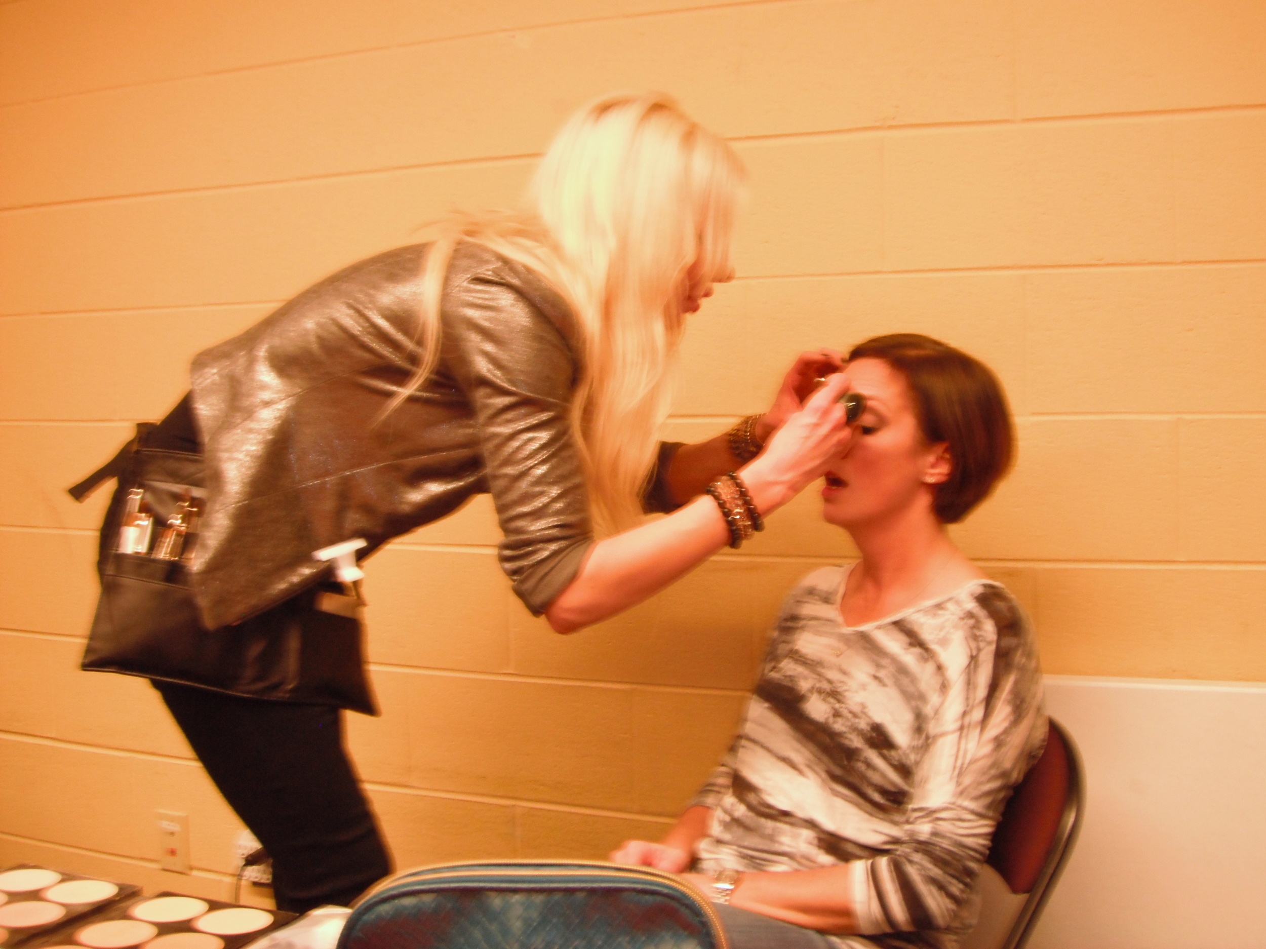 Applying Makeup for the Look Good, Feel Better Survivor Fashion Show!