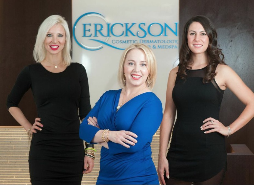 Elizabeth Weiler , Practice Manager & Director of Aesthetics,  Dr Quenby Erickson , Owner & Medical Director, &  Jennifer Kucharz , Licensed Esthetician at   Erickson Cosmetic Dermatology Chicago.
