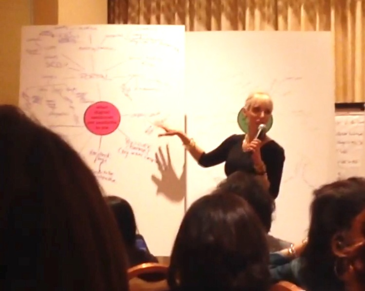 E presenting a Mind Map at 2015's Obagi's Aesthetics Leadership Community meeting in Las Vegas