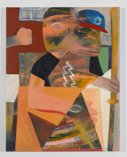 "Demon Alcohol , 2012, oil on canvas, 22.5"" x 28.5"""