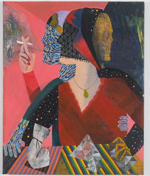 "Kooky Karma , 2012, oil on canvas, 24"" x 36"""