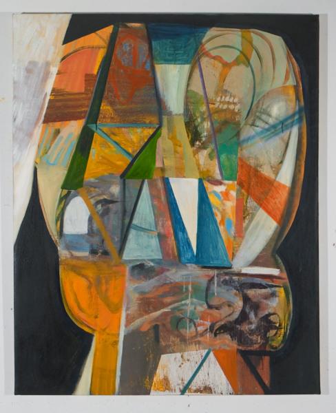 "Brewer's Brain , 2012, oil on canvas, 48"" x 36"""