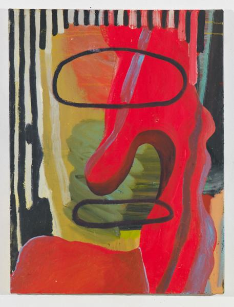 """Head # 4 , 2012, oil on canvas, 17.5"""" x 14"""""""