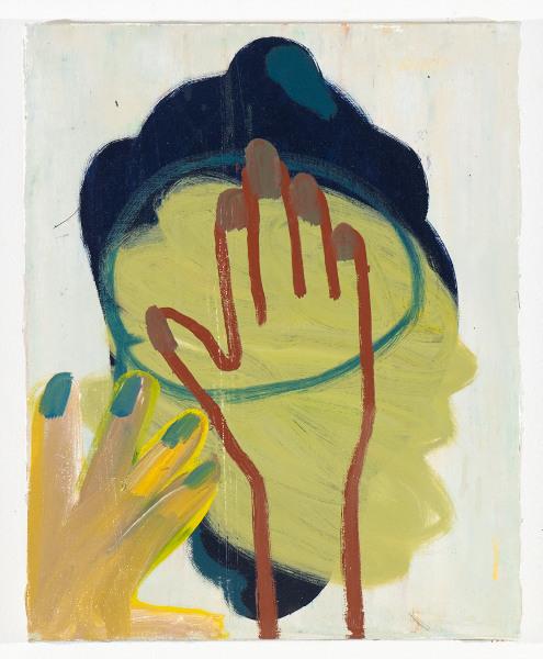 """Head # 3, 2012 oil on canvas, 17.5"""" x 14"""""""
