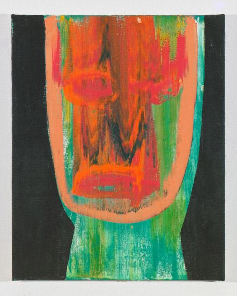 """Head # 2 , 2012, oil on canvas, 17.5"""" x 14"""""""