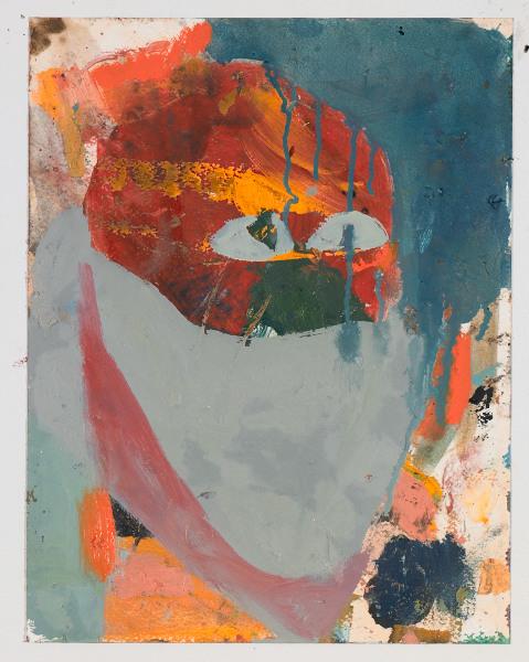 """Head # 1 , 2012, oil on paper, 14"""" x 10.5"""""""