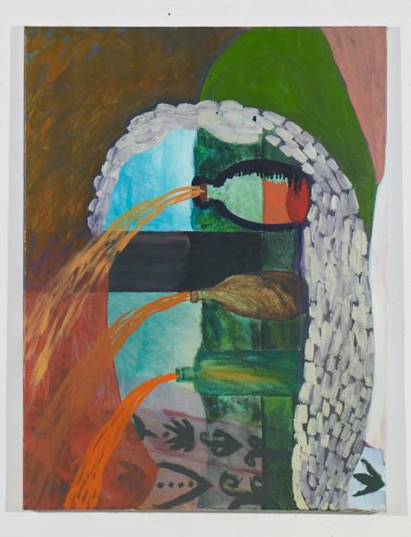 """Head # 7 , 2012, oil on canvas, 17.5"""" x 14"""""""
