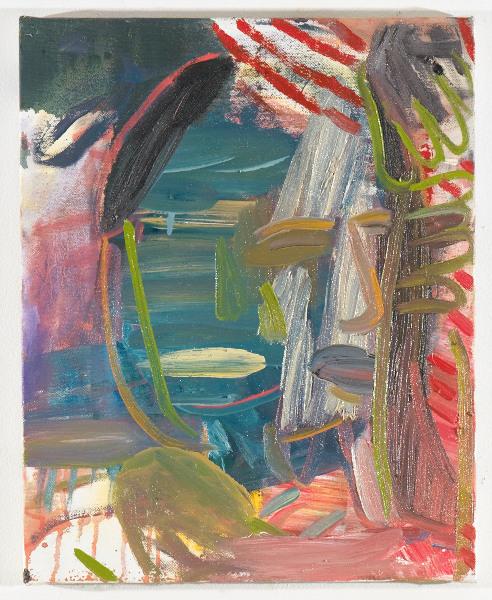"""Head # 8 , 2012, oil on canvas 17.5 x 14"""""""