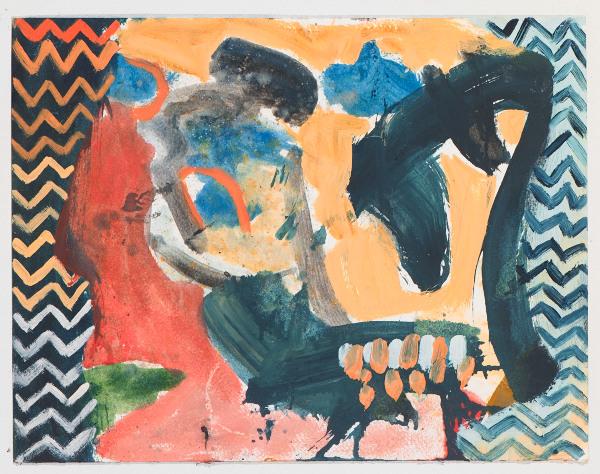 """Head # 9 , 2012, oil on paper, 10.5"""" x 14"""""""