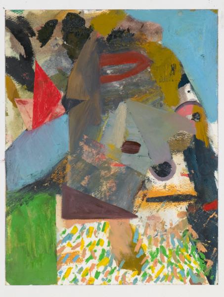 """Head # 10 , 2012, oil on paper, 14"""" x 10.5"""""""