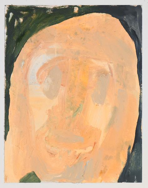 """Head # 11 , 2012, oil on paper, 14"""" x 10.5"""""""