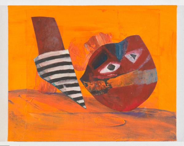 "Slow Burn , 2012, oil on canvas, 14"" x 17.5"""
