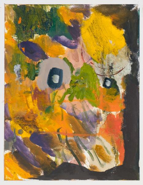 """Head # 12 , 2012, oil on paper, 14"""" x 17.5"""""""