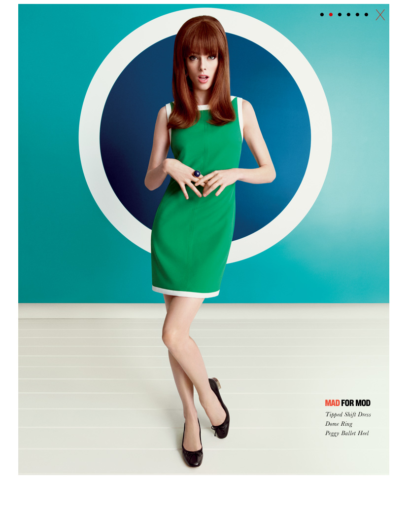 Banana Republic Mad Men® Collection Tipped Shift Dress