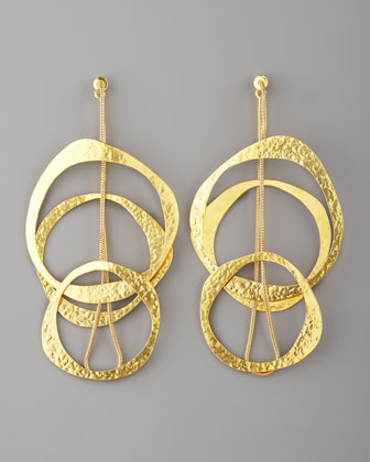 Hervé Van der Straeten Multi-Circle Earrings