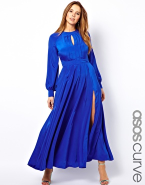 Asos Curve Maxi Dress with Bell Sleeve
