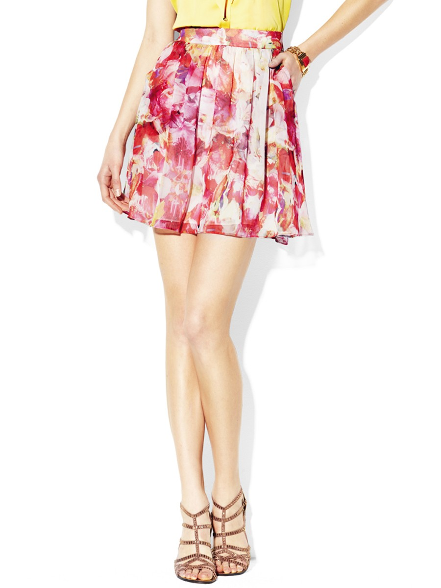 Corsage Floral Skirt