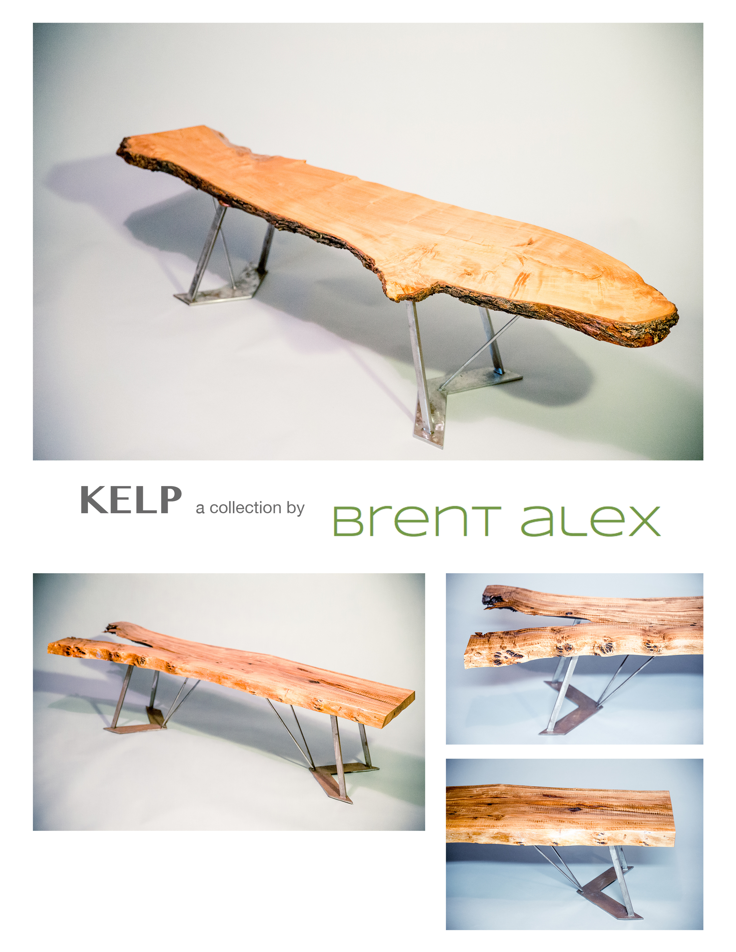 Hand-crafted Artisanal Legs available in:    1. Silicon Bronze    2. Corten Steel    3. Stainless Steel