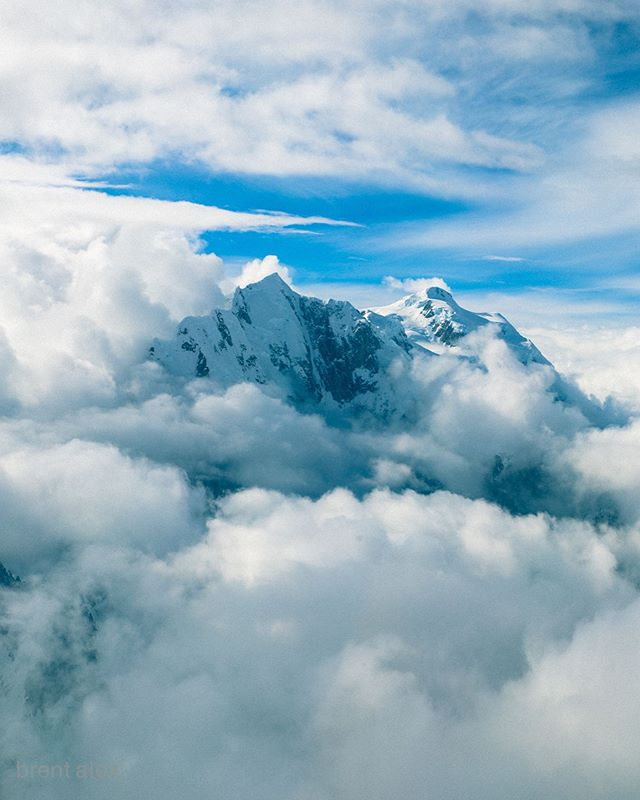 📷@brent.alex  Denali, at 20,310 feet above sea level, is the highest peak in North America.  #brentalex ________________________________________ #mountain #denali #alaska #adventure #landscapephotography #aerialphotography #climbing