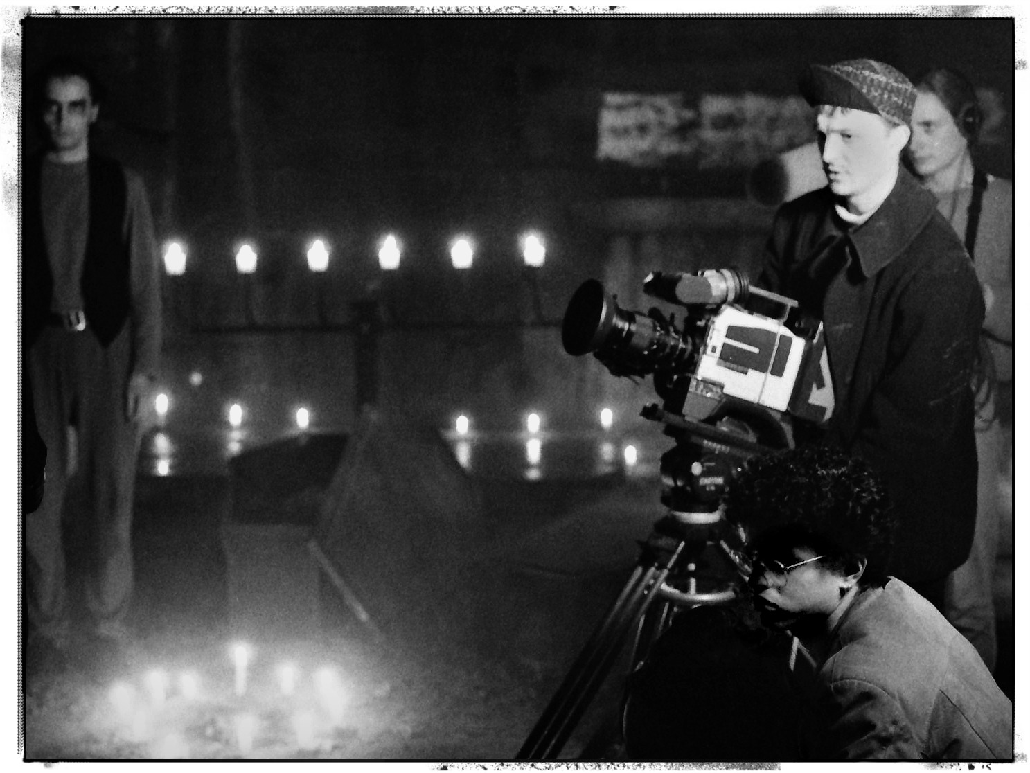 The Vampire ... and director Bryn Tilly, camera operator Martyn Roberts, and sound recordist Daniel McLaren