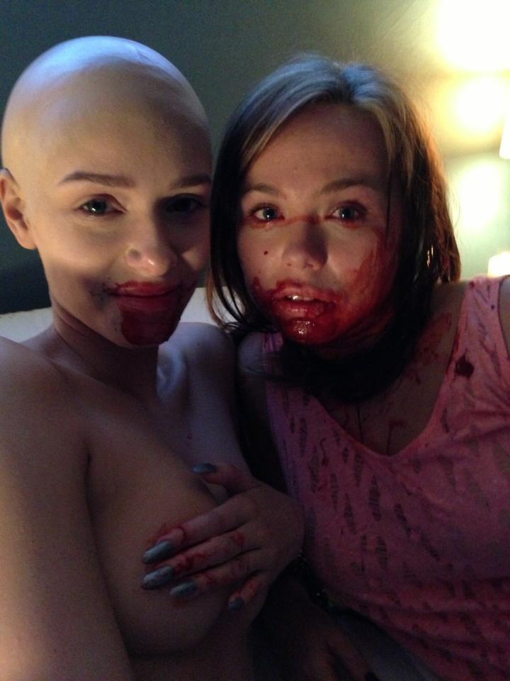 Alex with co-star Amanda Fuller