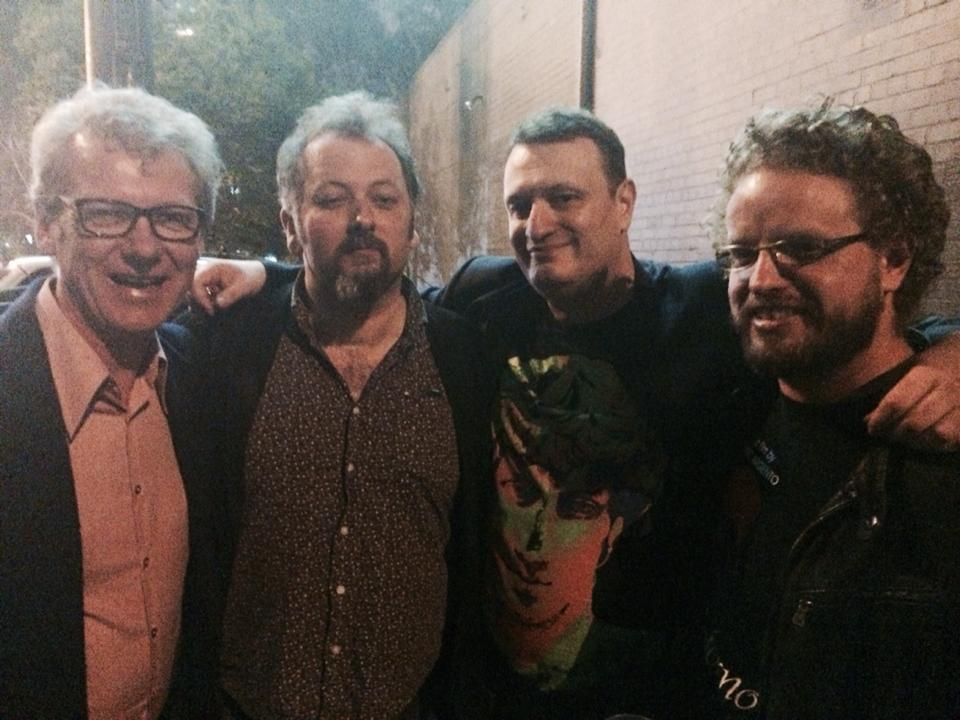 Michael Helms, Revelations festival programmer Jack Sargeant, Melbourne Underground Film Festival director Richard Wolstencroft, and yours truly, at MUFF (2014).