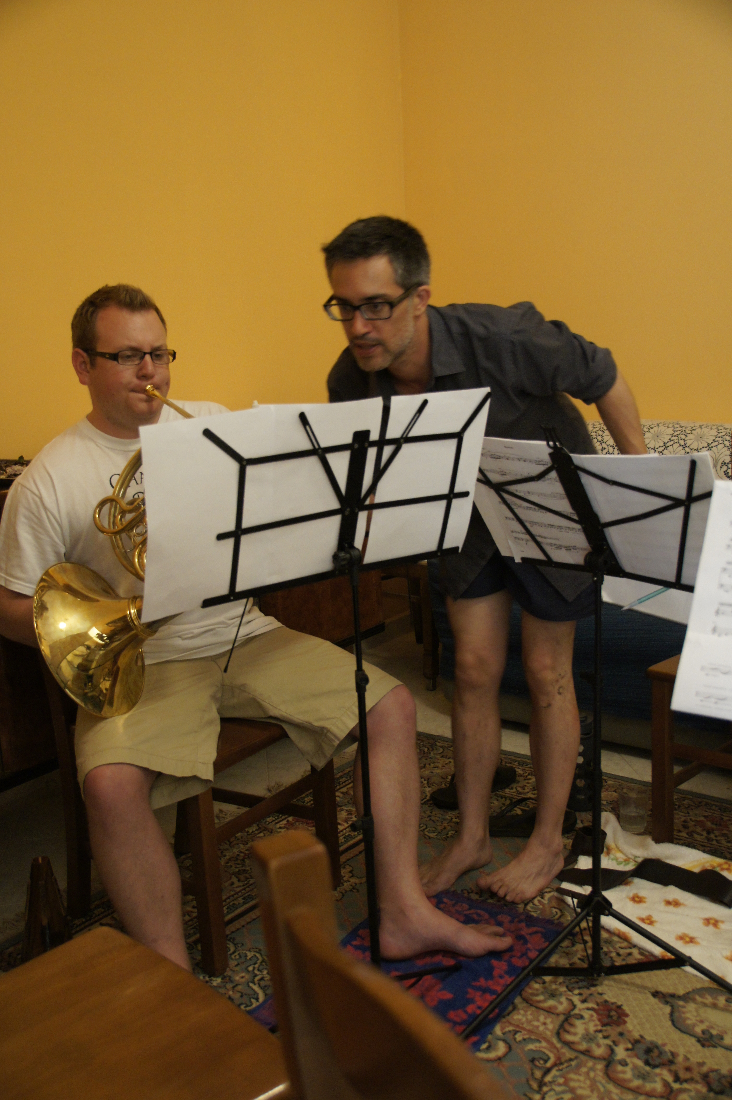 Collaborating with composer Libero Mureddu