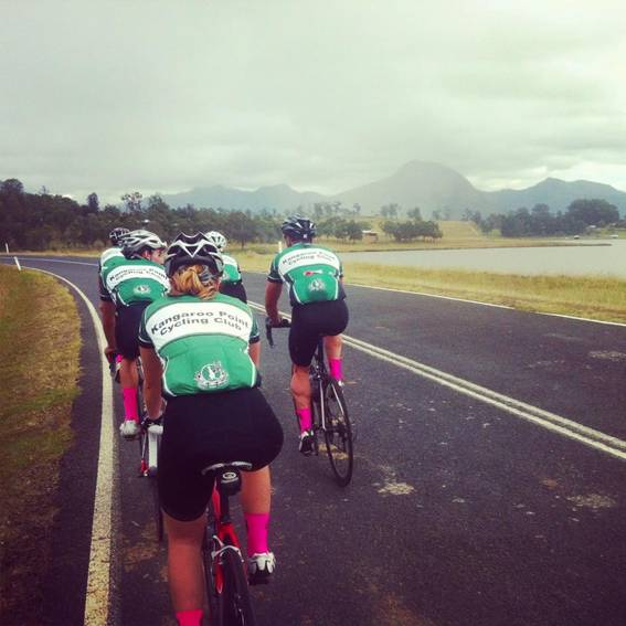 TeamKP approaches Moogerah Dam with only 15km left to ride.