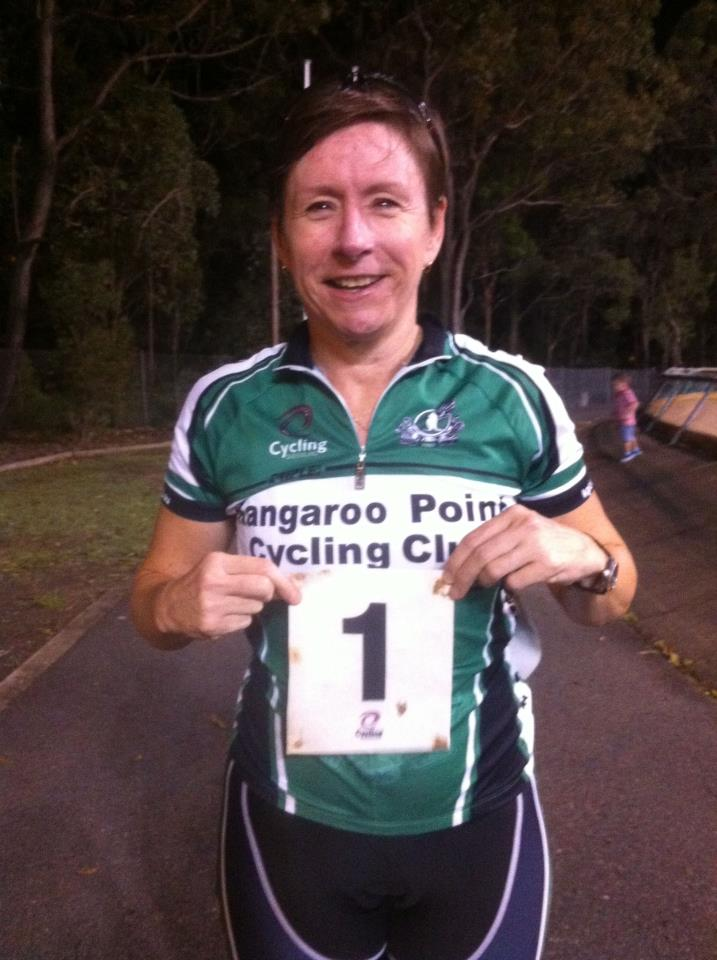 @KangarooPointCC Captain Jacinta with her race number... Number 1 for the State Champ! #QLDMasters