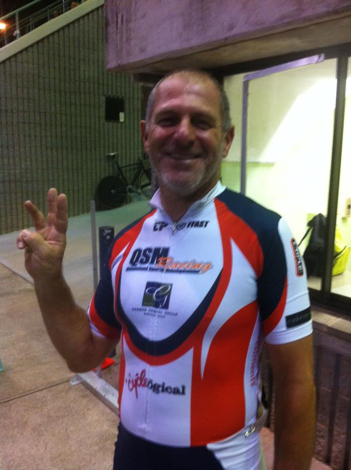 @KangarooPointCC's IanC riding for @QSMRacing takes Bronze in the MMAS5 500m TT! #QLDmasters