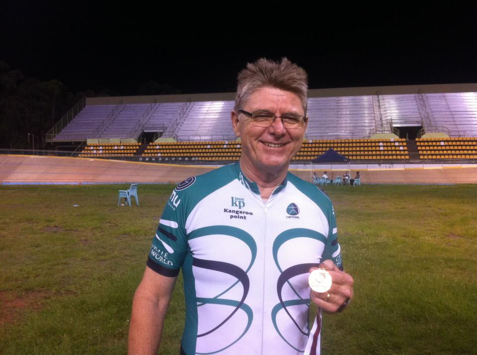 TeamKP rider JimC with his third medal for the weekend at the @QLDcycling #QLDmasters!