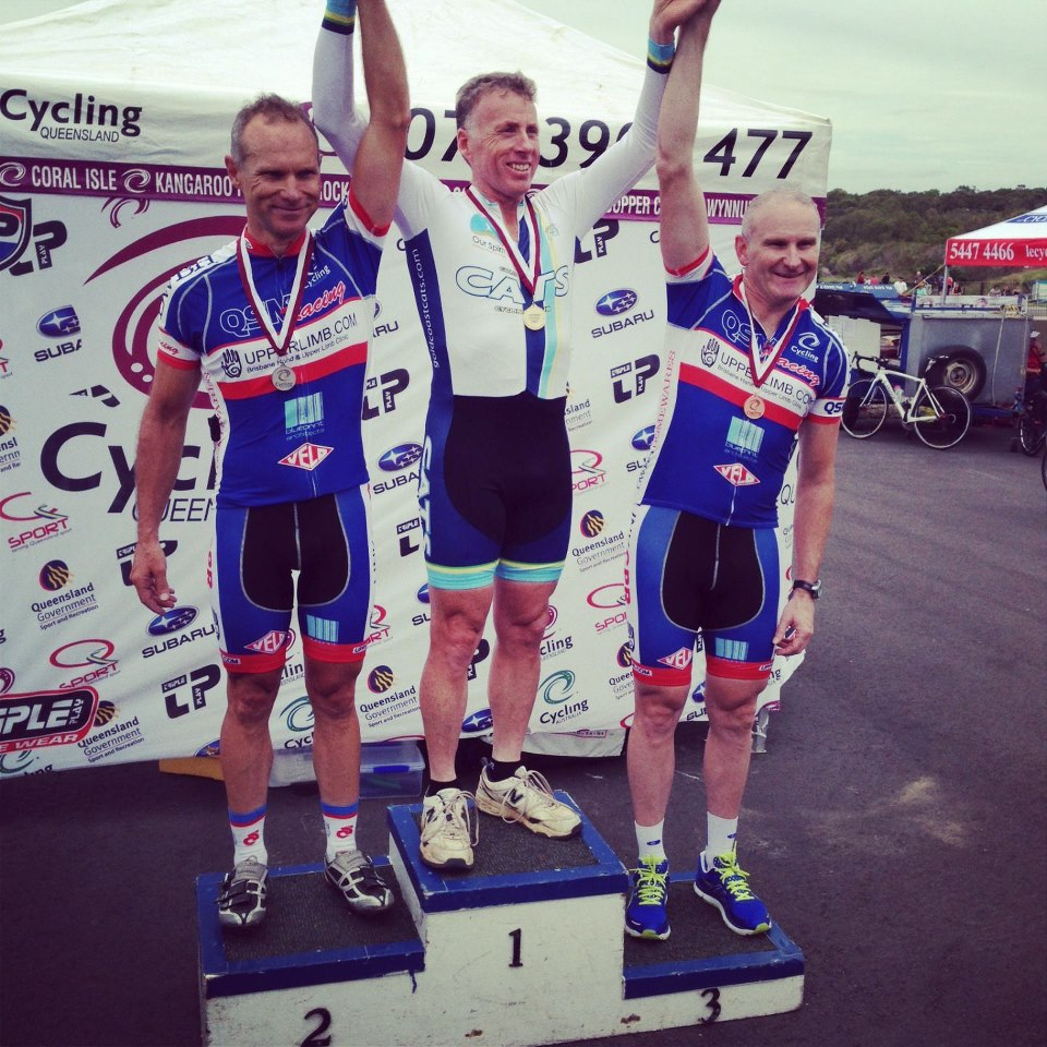Congratulations BrianO (TeamKP for @QSMracing) on the Bronze medal at the State Criterium Champs!