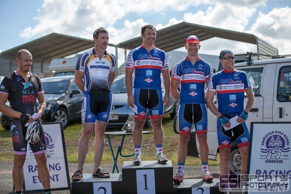 JamesF (TeamKP for @QSMracing) on the top step of the MastersA podium at the Anzac25! Well done James!
