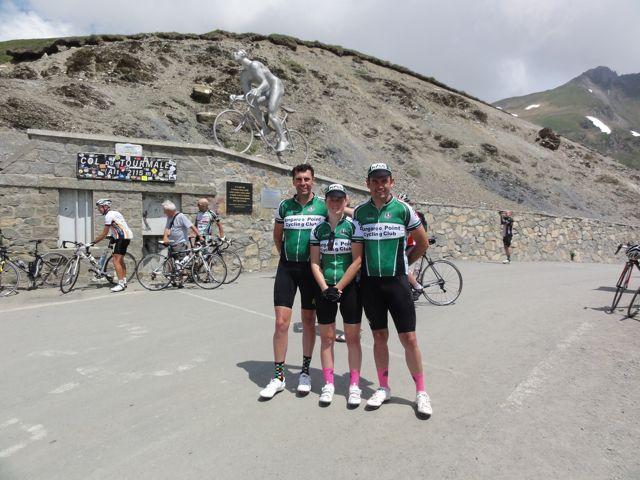 TeamKP summits Col du Tourmalet at 2115m.