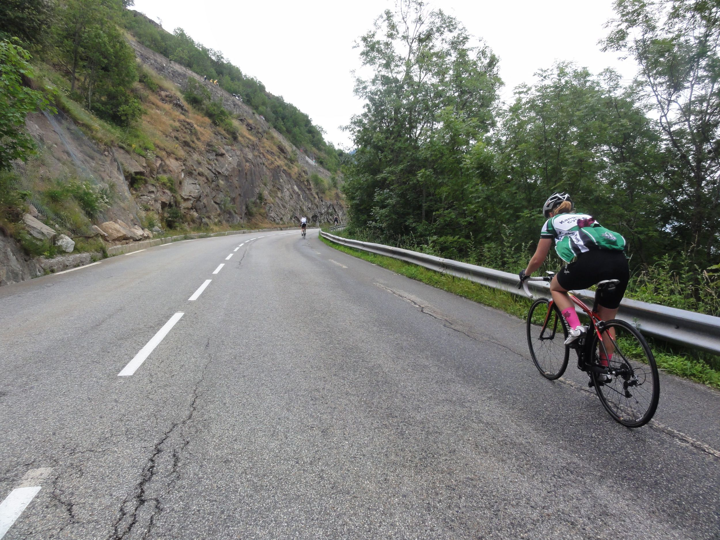 The climbs between the hairpins during the first half of the climb are deceptively steep.